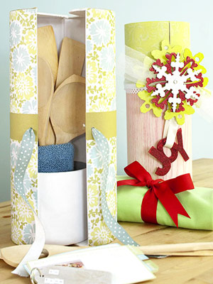 Wrap Odd-Shape Holiday Gifts In Wine Containers