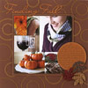 PUMP UP AN AUTUMN SCRAPBOOK PAGE WITH THEME PATTERNED PAPER