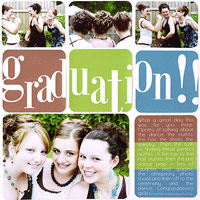 Graduation! A Page-Spanning Title