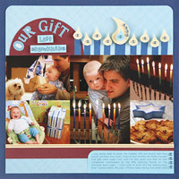 Use Punches To Craft Hanukkah-Theme Scrapbook Page Embellishments
