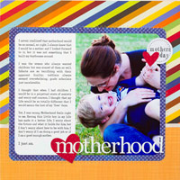 CREATE A QUICK AND EASY MOTHER?S DAY SCRAPBOOK PAGE