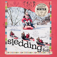 SLOPE TITLE AND PHOTOS TO IMITATE SLEDDING MOTion