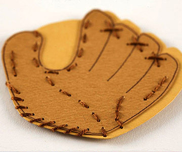 BASEBALL GLOVE PAPER-PIECING PATTERN