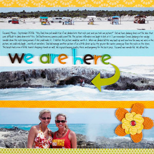 SCRAPBOOK PANORAMIC BEACH PICTURES ON A VACATION PAGE