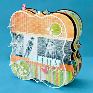 CREATE A SUMMER VACATION SCRAPBOOK ALBUM