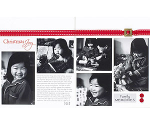 Create A Simple Christmas Scrapbook Layout With Black-And-White Photos