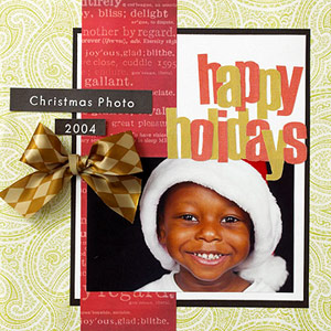 Scrapbook A Holiday Card Photo
