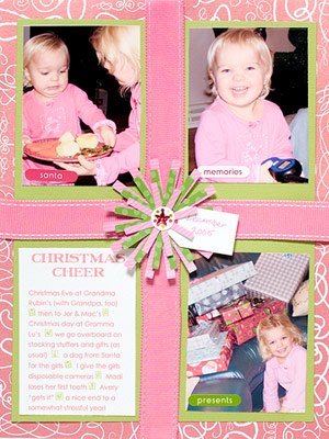 Design A Scrapbook Page With Same-Size Blocks For Photos And Text