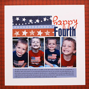 CREATE A QUICK 4TH OF JULY SCRAPBOOK PAGE