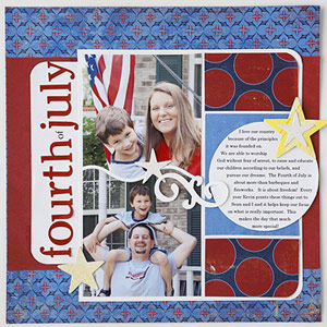 GROUP AND MAT SCRAPBOOKING ELEMENTS TO UNIFY A PAGE