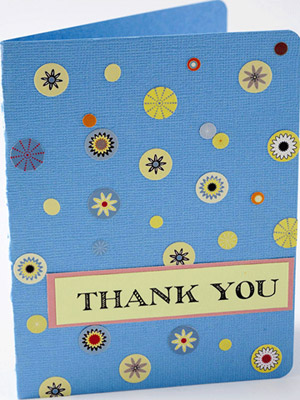 MAKE A THANK YOU CARD WITH SCRAP STICKERS
