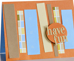 EMBELLISH WITH PAPER STRIPS