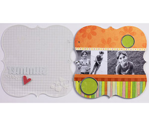 ENHANCE AN ACRYLIC SCRAPBOOK ALBUM COVER