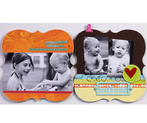 USE MULTIPLE MATERIALS FOR SCRAPBOOK ALBUM PAGES