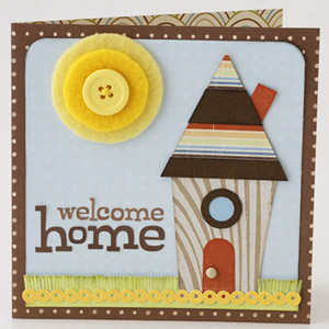 CREATE A QUIRKY HOUSEWARMING CARD WITH PAPER PIECINGS