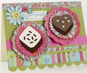 ADD PIZZAZZ TO YOUR PAPER PIECINGS WITH EMBELLISHMENTS