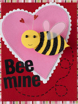 GIVE YOUR VALENTINE CARD DIMENSION WITH A BOUNCING BUMBLEBEE