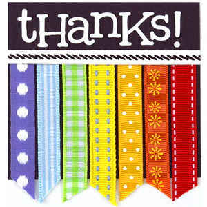 Create a tiny thank-you from ribbon scraps
