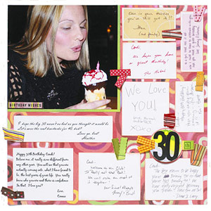 SAVE YOUR BIRTHDAY CARDS TO USE AS JOURNALING