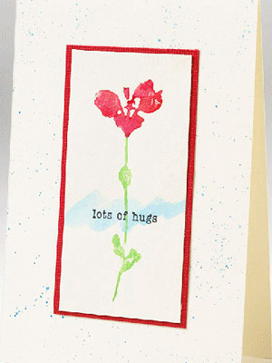 MAKE A UNIQUE CARD WITH WATERCOLOR STAMPS