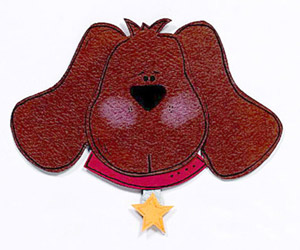 CARTOON DOG PAPER-PIECING PATTERN