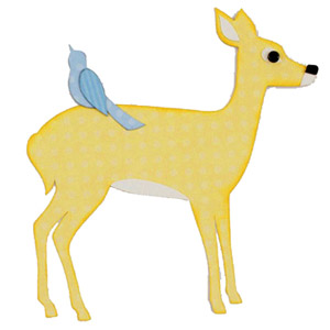 DEER PAPER-PIECING PATTERN