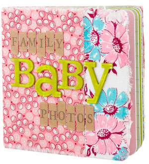 Baby Picture on Wrap Board Book Covers With Fabric