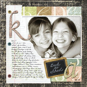 CREATE A VINTAGE-STYLE SCHOOL SCRAPBOOK PAGE