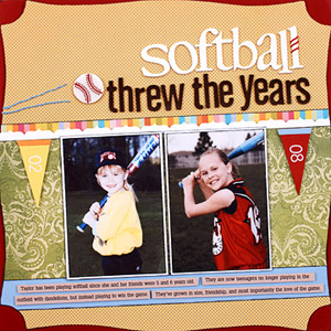USE NEW AND OLD PHOTOS TO COMPARE SOFTBALL SEASONS