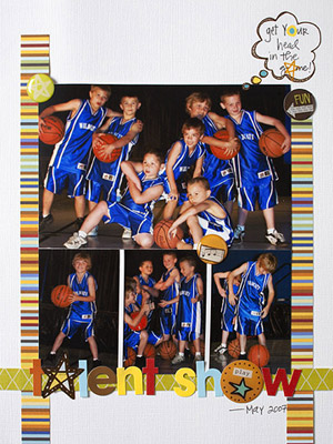 CREATE A QUICK COLLAGE WITH BASKETBALL PHOTOS