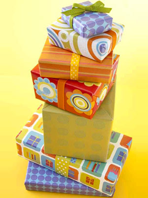 Stack of Wrapped Birthday Presents