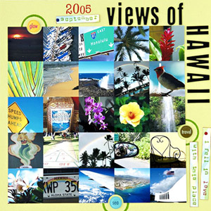 SCRAPBOOK 25 HAWAII VACATION PHOTOS INTO A GRID