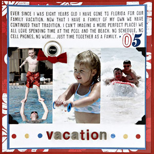 WHIP UP A QUICK AND EASY BEACH SCRAPBOOK PAGE