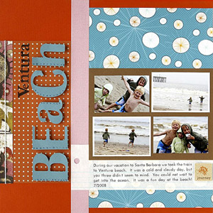 CREATE A WHIMSICAL BEACH VACATION PAGE WITH PATTERNED PAPER
