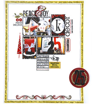 Showcase Holiday Decorations On A Scrapbook Page