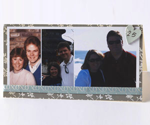 Add A Ribbon Border To Your Photo Collage Card