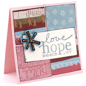 Build A Card Background With Blocks Of Patterned Paper