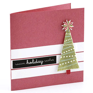 Make A Fast Christmas Card Using Dimensional Stickers