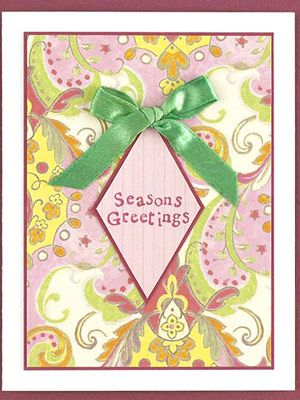 Stamp A Quick Holiday Card Greeting