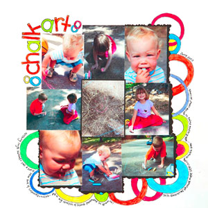 USE A CHILD?S ARTWORK AS SCRAPBOOK PAGE INSPIRATION