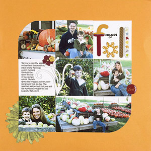 USE SCRAPBOOKING SUPPLY LEFTOVERS IN FALL COLORS