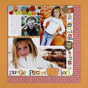 SCRAPBOOK FALL PHOTOS ON A GRID