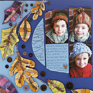 CROP PATTERNED PAPER AND PHOTOS IN MULTIPLE SHAPES AND SIZES