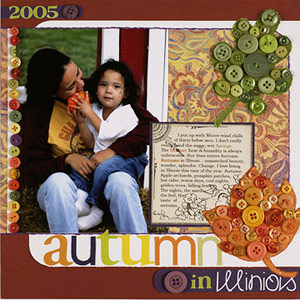 MIMIC COLORFUL FALL TREES FOR AN AUTUMN-INSPIRED SCRAPBOOK PAGE