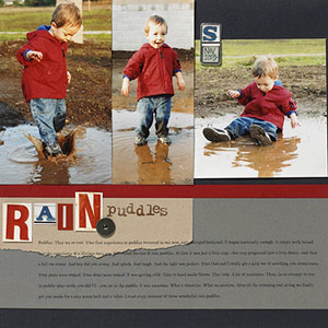 COMBINE SCRAPBOOK PHOTO CUTOUTS FOR A QUICK TITLE