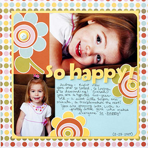 MAKE A PAPER AND CARDSTOCK-ONLY GIRL SCRAPBOOK PAGE