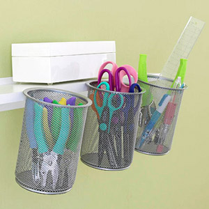 ORGANIZE SCRAPBOOKING TOOLS IN MESH PENCIL HOLDERS