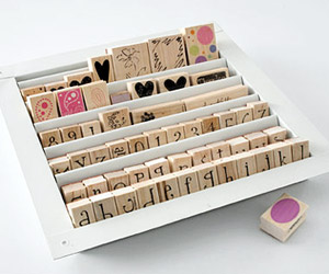USE A WALL LOUVER FOR AT-A-GLANCE STAMP STORAGE