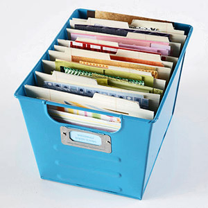 USE A LOCKER BIN TO SORT PAPER BY COLOR