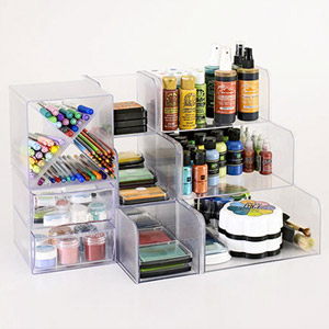 USE MODULAR STORAGE CUBES TO HOUSE INKS AND MARKERS